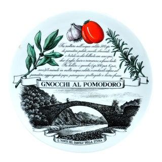 Piero Fornasetti Recipe Plate Piatti Tipici #1, Gnocchi Al Pomodoro