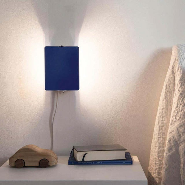 Not Yet Made - Made To Order Charlotte Perriand Blue 'Applique á Volet Pivotant' Wall Lights - a Pair For Sale - Image 5 of 12