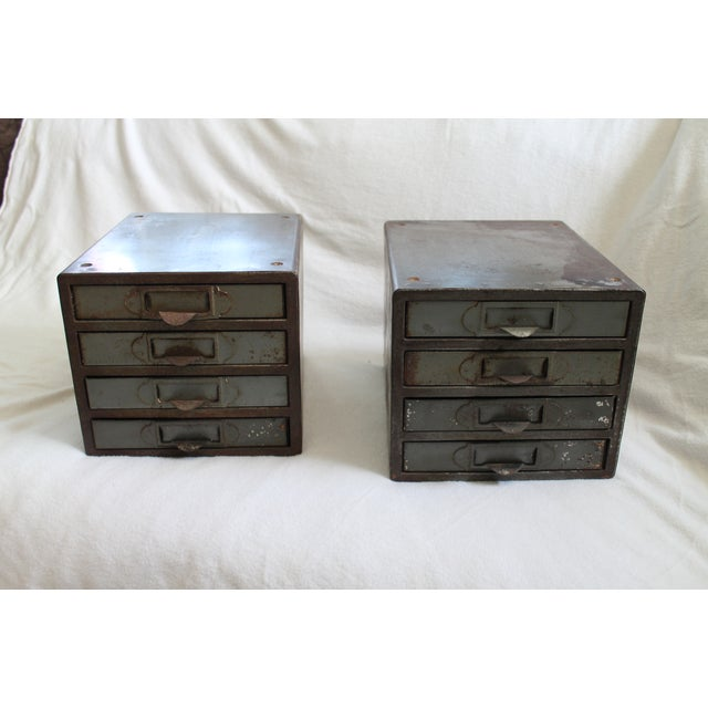 Industrial Metal Storage Desktop Cabinets - Image 4 of 11