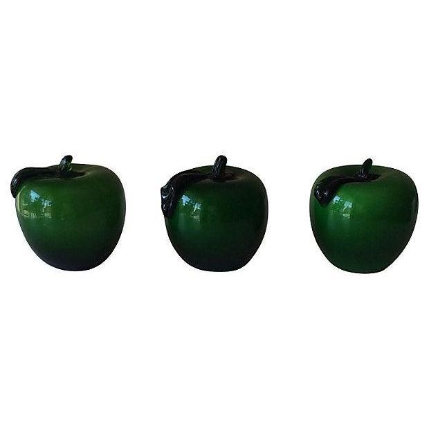 Handblown Apple Paperweights - Set of 3 - Image 2 of 3