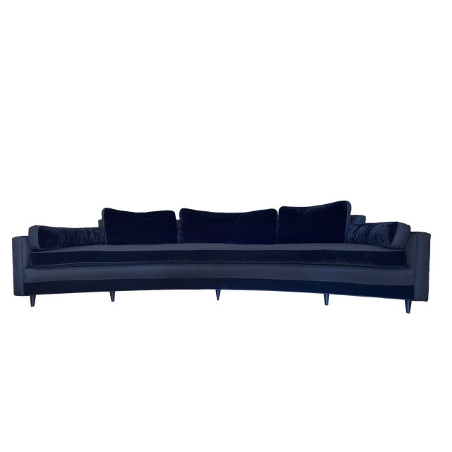 1960s Harvey Probber Crescent Curved Sofa For Sale In Miami - Image 6 of 6