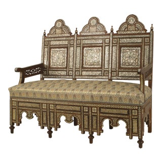 Middle Eastern Syrian Walnut Settee For Sale