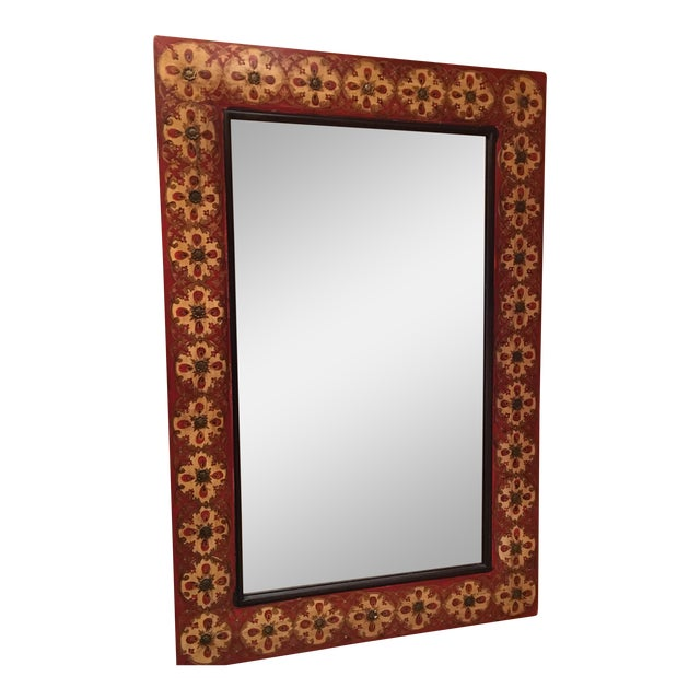 Spanish Style Red Mirror - Image 1 of 7