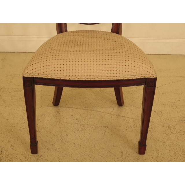 Chippendale Maitland Smith Carved Mahogany Dining Room Chairs - Set of 4 For Sale - Image 3 of 13