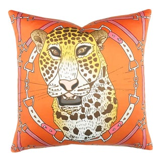 "Cheetah Plaid in Harvest 22"" Pillow For Sale"