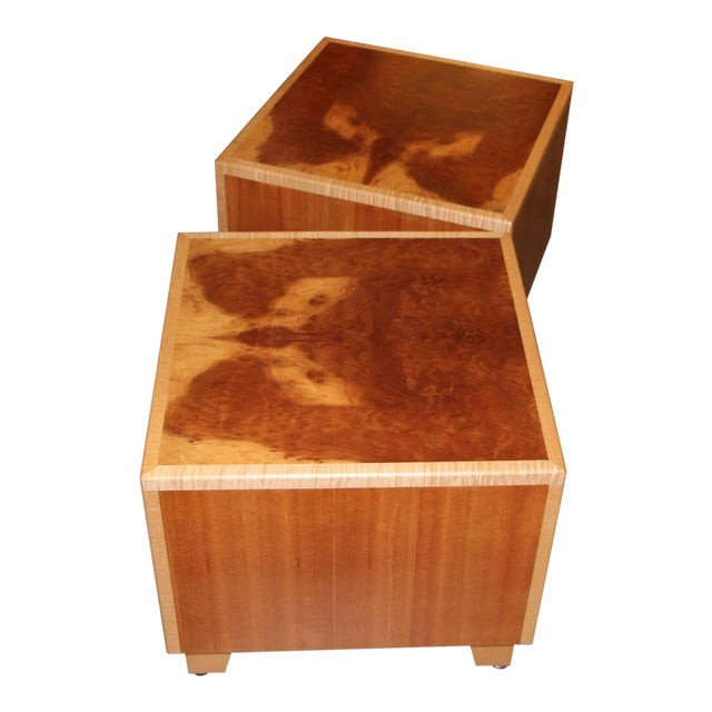 """Joseph Kelly Custom Made """"Rorshach Bunching"""" Tables- A Pair For Sale"""