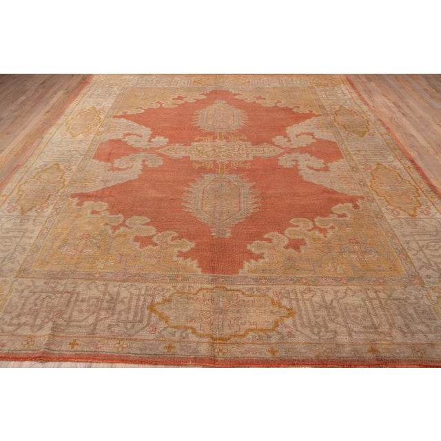 """Beautiful vintage Turkish Oushak rug, very large measures approx.10' x 12'2"""""""