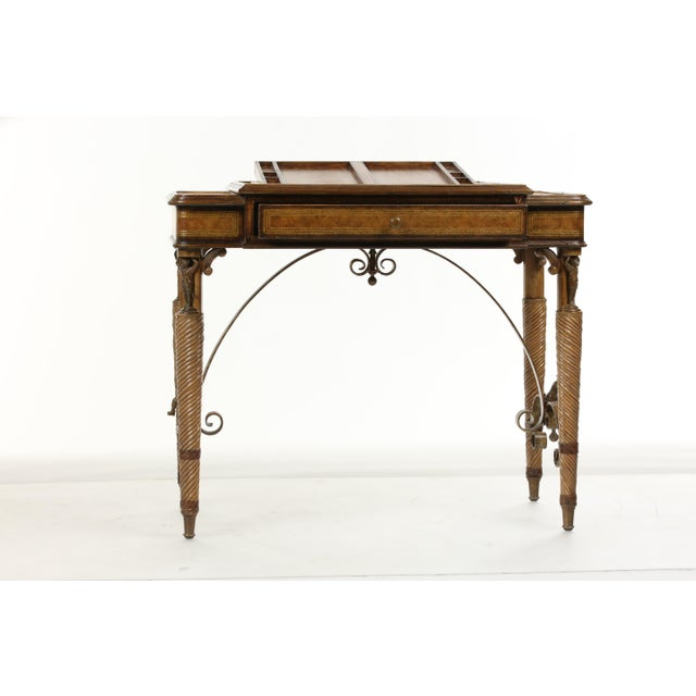 Traditional Maitland Smith Game Table For Sale - Image 3 of 13