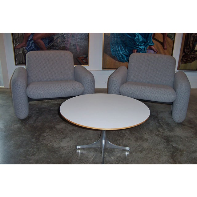 Gray Herman Miller Chiclet Chairs & Table - Set of 3 For Sale - Image 8 of 11