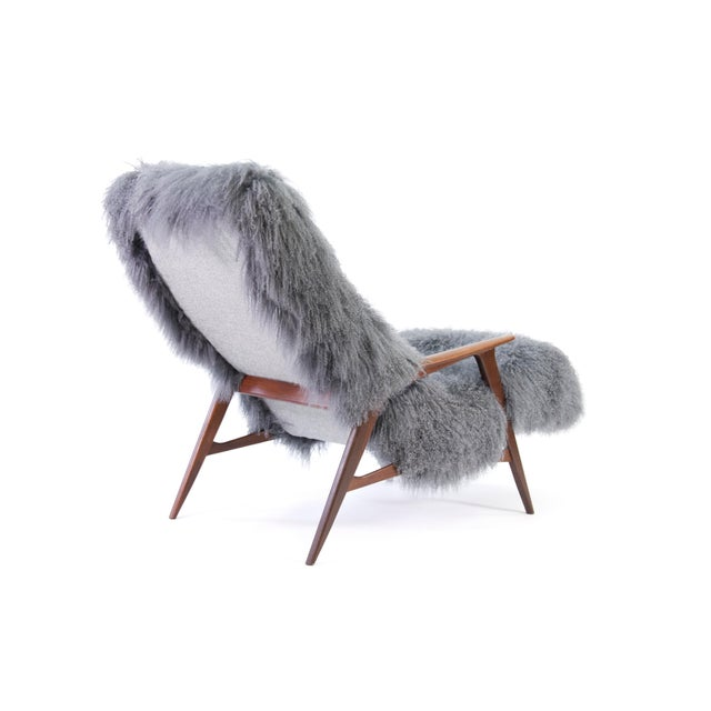 Jio Mobler Siesta Chair in Mongolian Sheepskin For Sale In Phoenix - Image 6 of 11