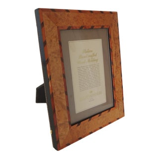 Italian Handcrafted Inlaid Wood Picture Frame For Sale