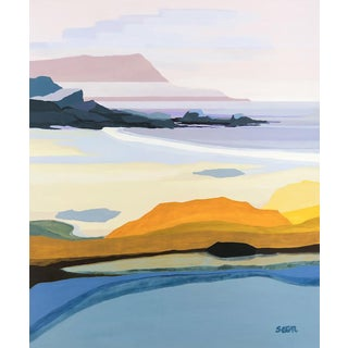 "Contemporary Fine Art Print, ""Oceanside"", Angela Seear, 11"" X 14"" For Sale"