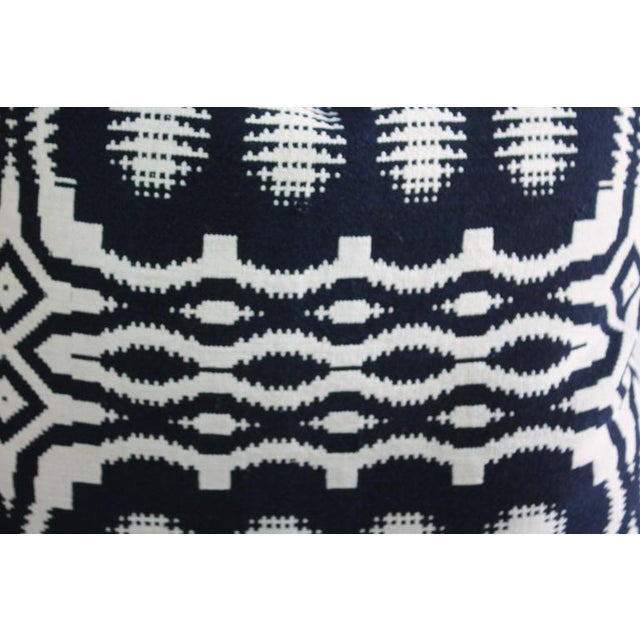 19th Century Handwoven Jacquard Coverlet Pillows For Sale - Image 10 of 10