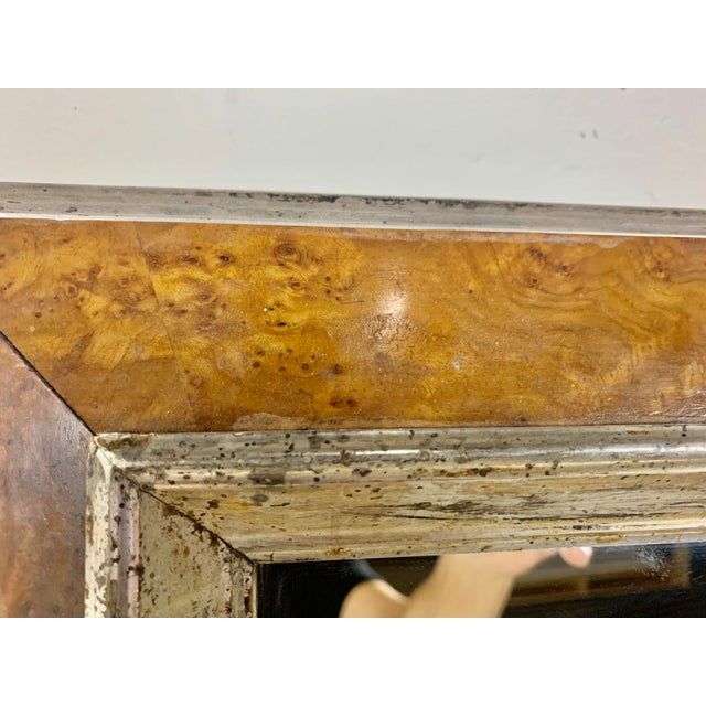 English Bird's-Eye Maple Frame With Mirror For Sale - Image 4 of 6