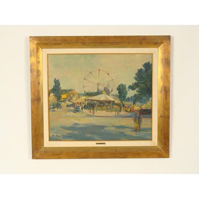 Carnival Scene Painting by Zoma Baitler For Sale - Image 13 of 13