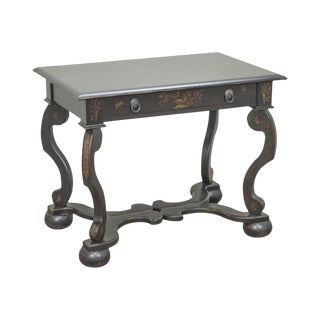 Drexel Heritage Painted Continental Baroque Style 1 Drawer Side Table For Sale