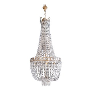 Montgolfièr Empire Sac a Pearl Chandelier Crystal Ceiling Lamp Pendant Lighting For Sale