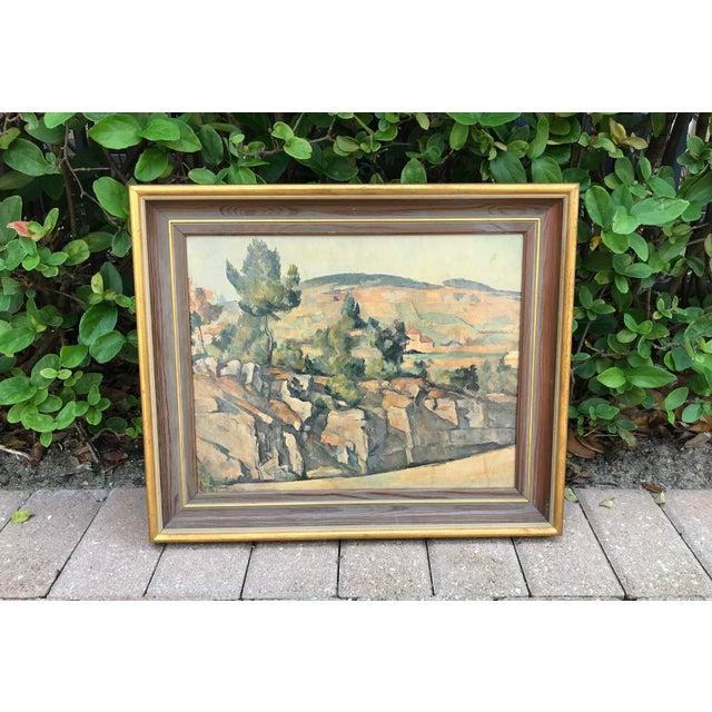 Vintage Italian Landscape Scene Print, Framed For Sale - Image 9 of 9