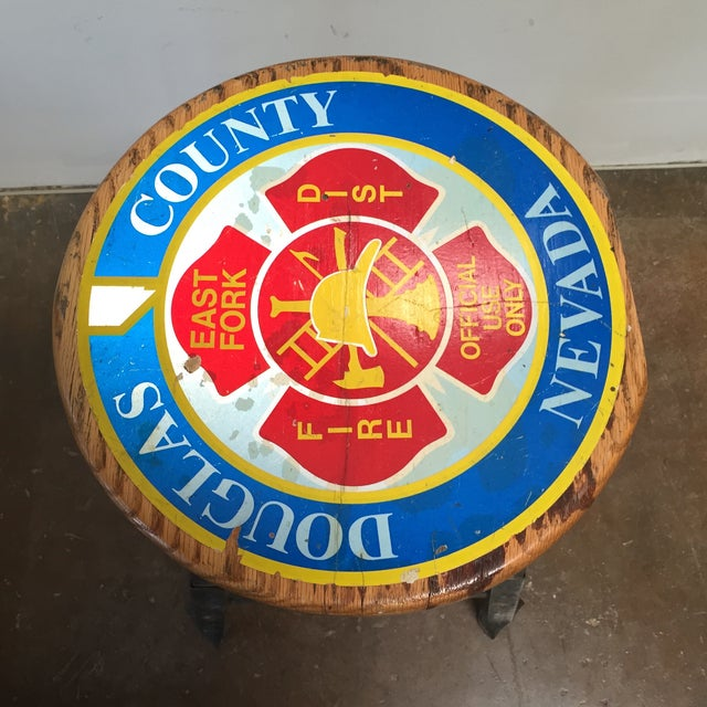 Vintage Industrial Firehouse Stool - Image 4 of 9