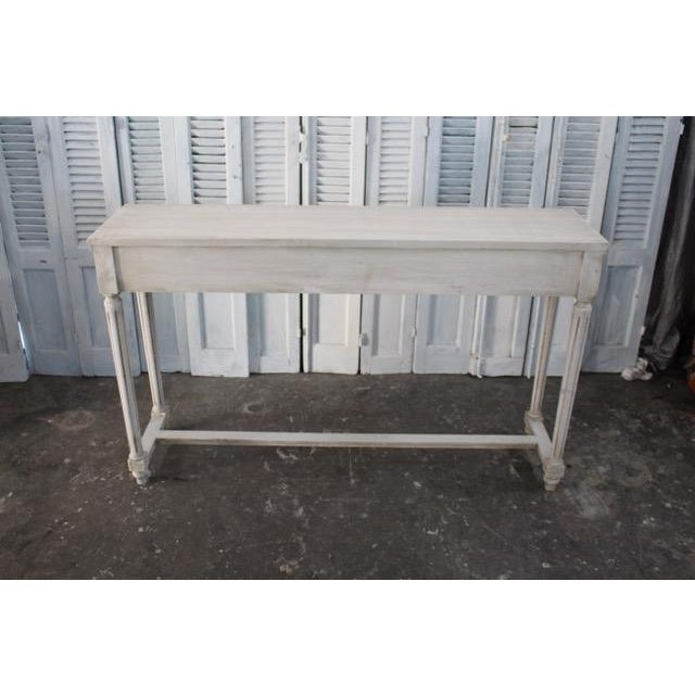 20th Century Vintage French Louis XVI Style Console For Sale - Image 11 of 12