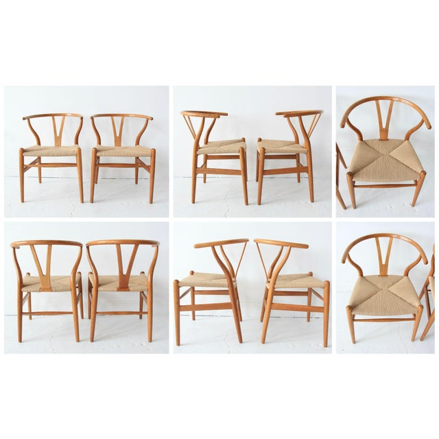 Vintage Hans Wegner Wishbone Chairs - Set of 4 - Image 10 of 10
