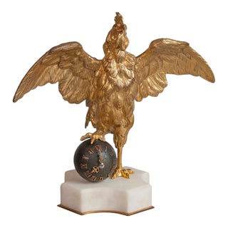 19th Century French Rooster Clock For Sale