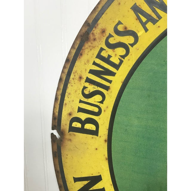 1920s Art Deco National Federation of Business and Professional Women Club Metal Sign For Sale - Image 4 of 5