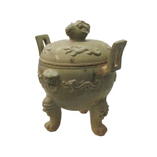 Vintage Chinese Clay Pottery Ding Display Art Preview