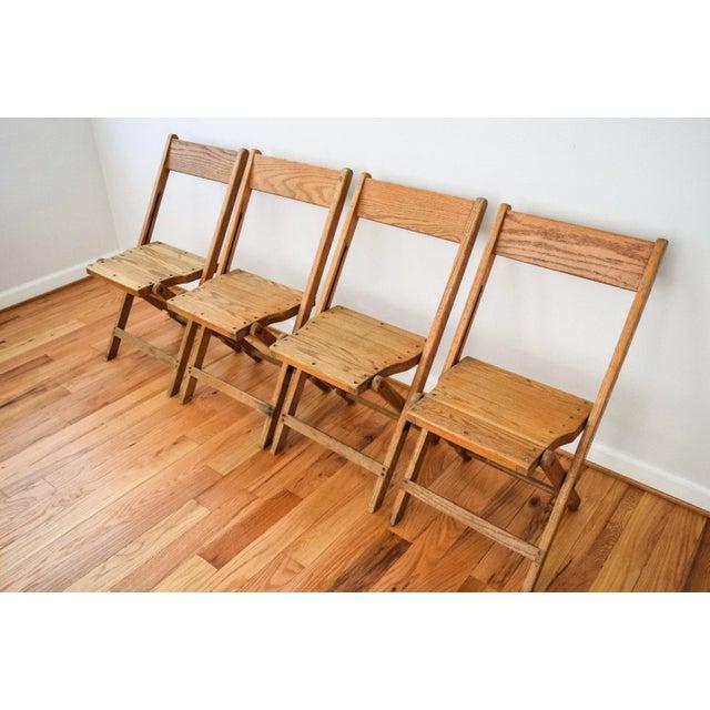 Americana Vintage Antique Snyder Oak Wood Folding Chair For Sale - Image 3  of 6 - Vintage Antique Snyder Oak Wood Folding Chair Chairish