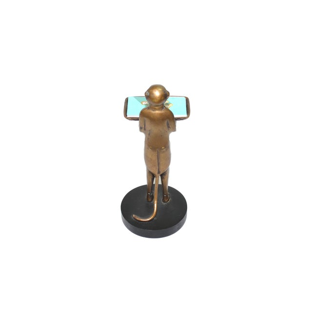 Vintage Brass Monkey Butler Card Holder - Image 6 of 6