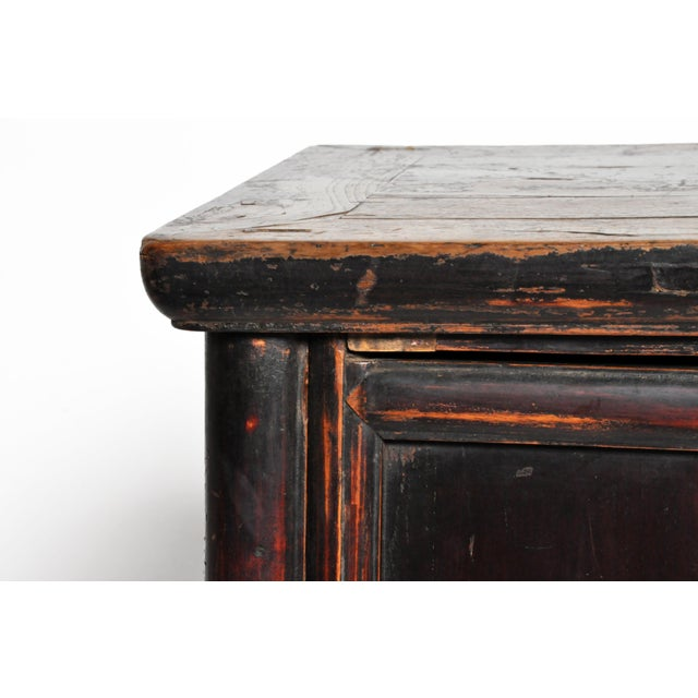 17th Century Qing Dynasty Round Post Chest With Two Drawers and Original Patina For Sale - Image 9 of 13