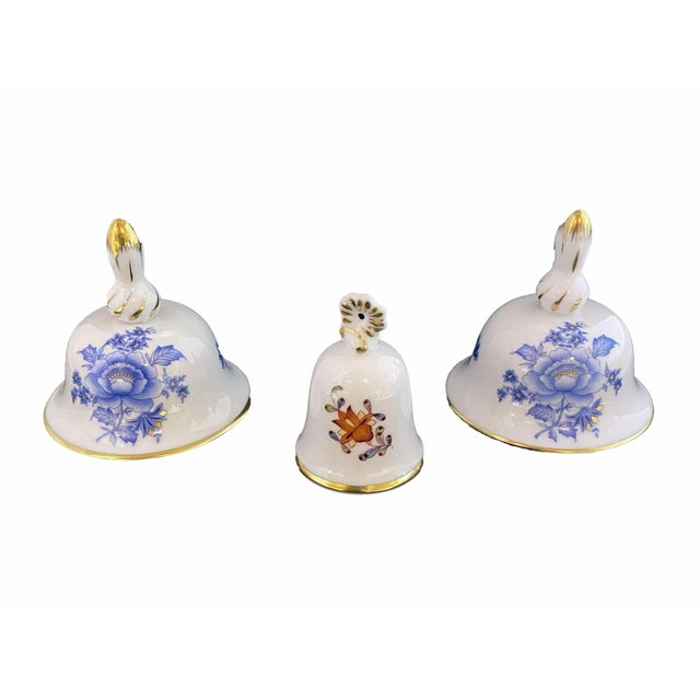 Herend Herend Porcelain Miniature Bells - Set of 3 For Sale - Image 4 of 4