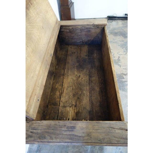 Wood 19th Century Italian Rustic Tuscan Farmhouse Console Table For Sale - Image 7 of 13
