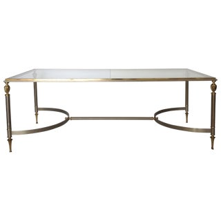 Maison-Jansen Brass & Steel Cocktail Table