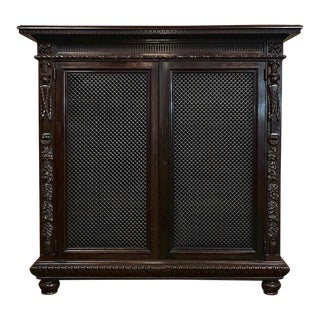 19th Century Italian Neoclassical Walnut Barrister's Bookcase For Sale