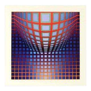 "Victor Vasarely ""Kedzi Vega"" Heliogravure With Coa For Sale"