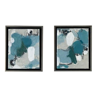 Beth Downey Abstract Expressionist Paintings, - a Pair For Sale