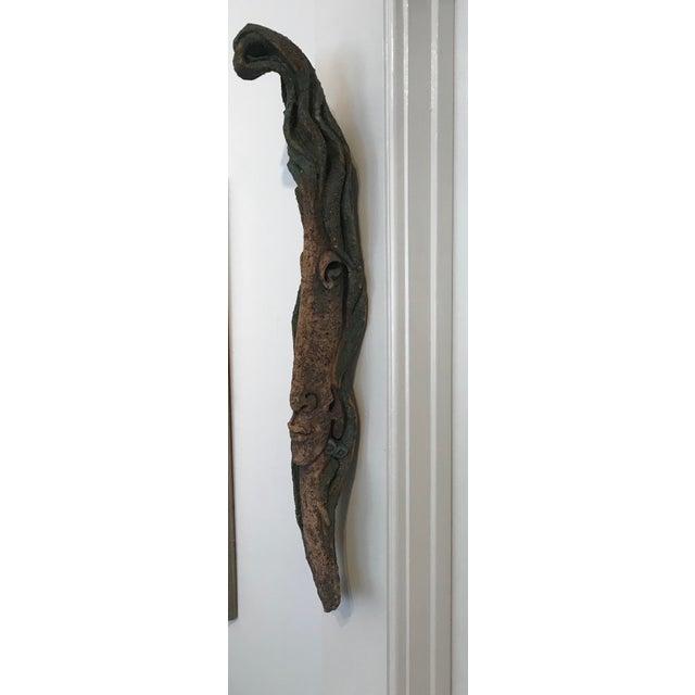 1990s Yeteve Neva Hanging Earthenware Portrait Sculpture For Sale - Image 9 of 10