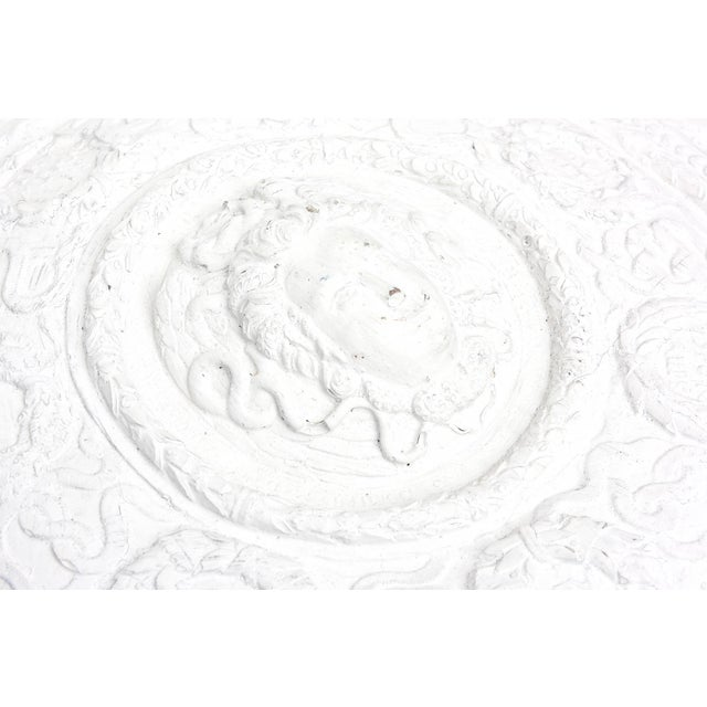 1990s 1990s Modern Versace Style White Plaster Resin Medallion For Sale - Image 5 of 10