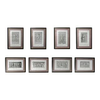 Antique Classical Engravings - Set of 8 Same Size For Sale