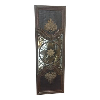 Lam Lee Brass & Leather Mirror For Sale