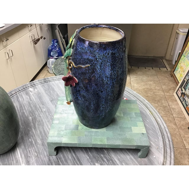 Blue Vintage Shagreen Table Stand For Sale - Image 8 of 9