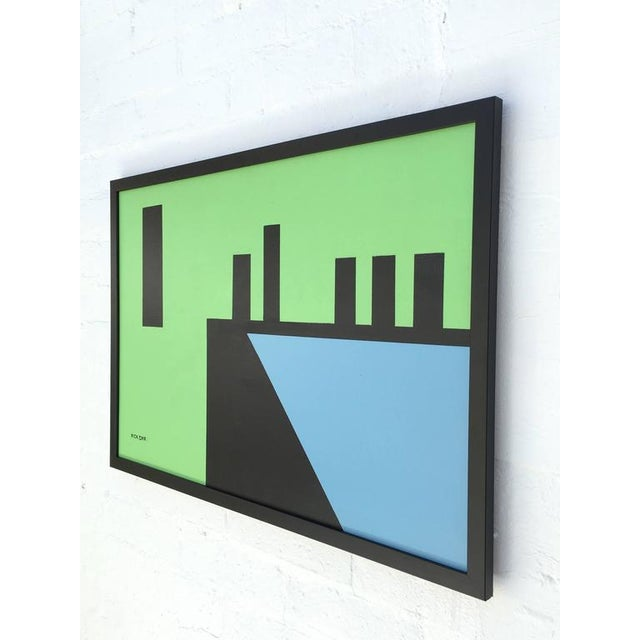 """Abstract """"Edge of Town #10"""" Abstract Painting by Listed Artist Rick Orr For Sale - Image 3 of 7"""