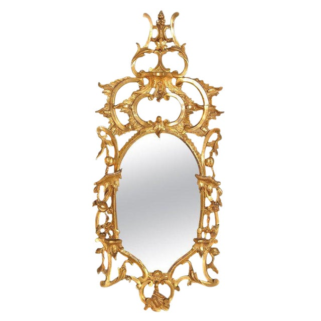 George III Chippendale Style Pier Glass Mirror For Sale