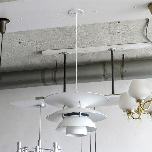 Wonderful large pendant by Poul Henningsen for the Charlottenborg Exhibition Hall in Copenhagen, produced by Louis...