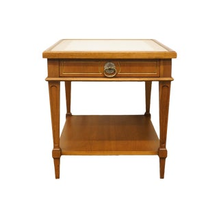20th Century Italian Hekman Furniture Marble Top Accent Table For Sale