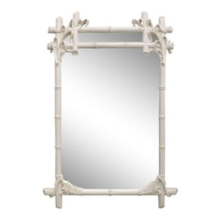 Gampel & Stoll Faux Bamboo Mirror 1970s For Sale
