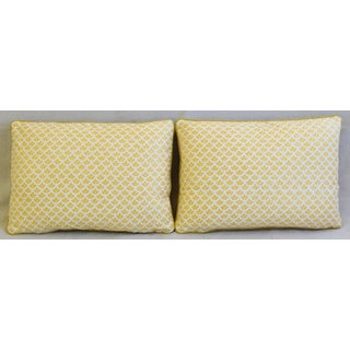 """Italian Mariano Fortuny Canestrelli Feather/Down Pillows 21"""" X 15"""" - Pair Preview"""