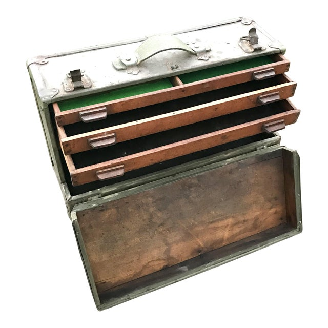 Antique Wooden Tool Box - Image 1 of 4