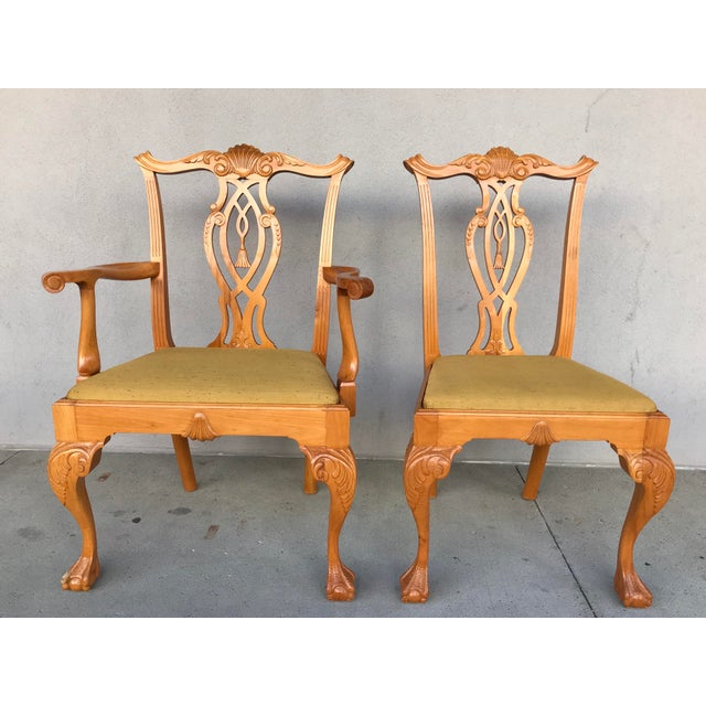 20th Century Boston Style Chippendale Mahogany Ball and Claw Foot Chairs - Set of 8 For Sale - Image 6 of 13